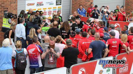 BSB Brands Hatch Superbike Parc Ferme Race ImageDYeomans