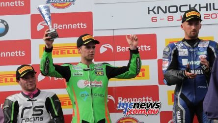 BSB RNd Knockhill Ben Currie collects trophy ImageDYeomans