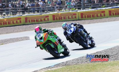 BSB RNd Knockhill Currie leads Kennedy ImageDYeomans