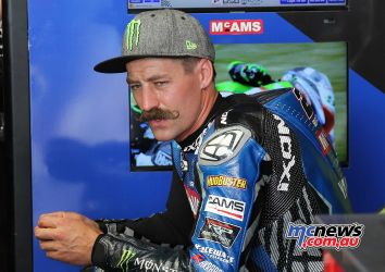 BSB RNd Knockhill Josh Brookes in the garage ImageDYeomans