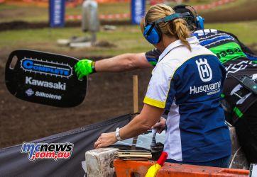 MX Nationals Rnd Conondale Donna Barham pitBoard ImageByScottya