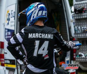 MX Nationals Rnd Conondale Dylan Marchand helmet ImageByScottya