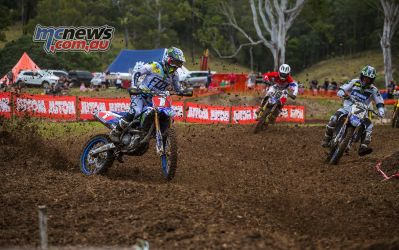 MX Nationals Rnd Conondale MX Race Passing Dylan Long ImageByScottya
