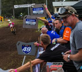 MX Nationals Rnd Conondale MXD PitBoards Race ImageByScottya