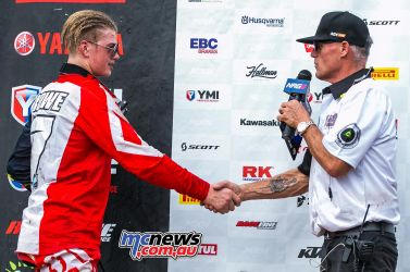 MX Nationals Rnd Conondale MXD Race Winners Rowe ImageByScottya