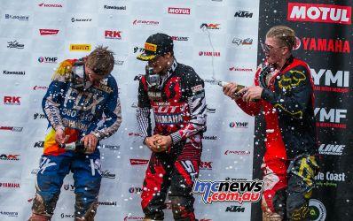 MX Nationals Rnd Conondale MXD Race Winners Spray McKay ImageByScottya