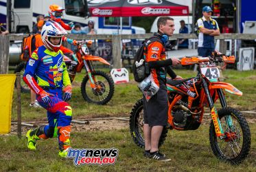 MX Nationals Rnd Conondale Mitch Evans Streching ImageByScottya