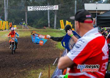 MX Nationals Rnd Conondale Pitboard Glen Segeri ImageByScottya