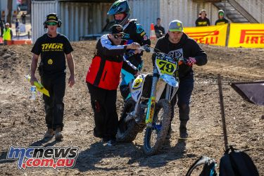 mx nationals ranch mx saturday practice mx tyre popped ImageByScottya