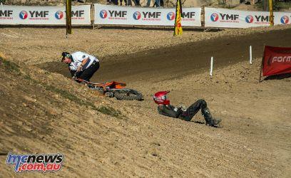 mx nationals round mx ktm rider down ImageByScottya