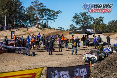 mx nationals round mxd first lap