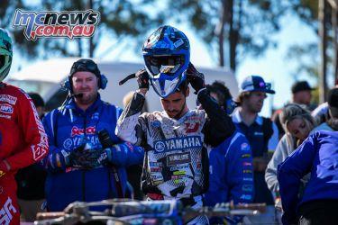 mx nationals round race mx helmet on jay Wilson