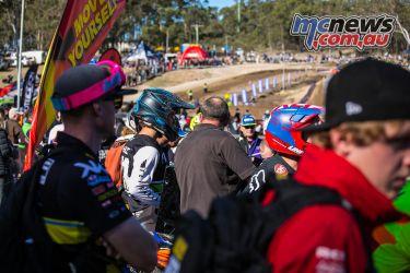 mx nationals round race mx shoei helmet
