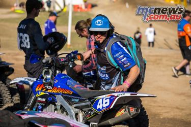 mx nationals round race mxd mckay getting ready