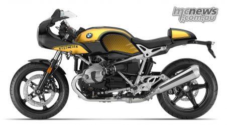 BMW RnineT Racer Black Storm Metallic Aurum