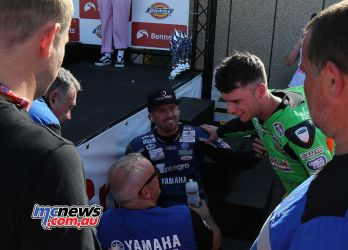 BSB Rnd Thruxton Ben Currie consoles Jack Kennedy Image DYeomans