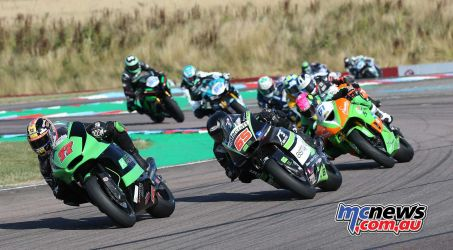 BSB Rnd Thruxton Ben Currie racing hard Image DYeomans
