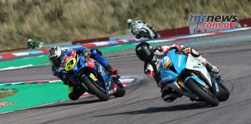 BSB Rnd Thruxton Billy McConnell in the thick of it Image DYeomans