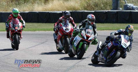 BSB Rnd Thruxton Josh Brookes leads the pack Image DYeomans