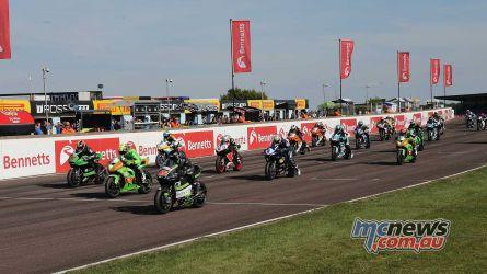 BSB Rnd Thruxton Supersport Race start Image DYeomans