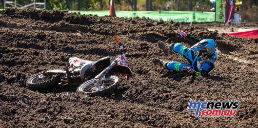 MX Nationals Rnd Gladstone moto cc rider down