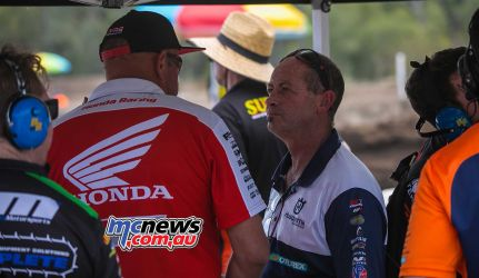 MX Nationals Rnd Gladstone moto mx honada racing pitboard