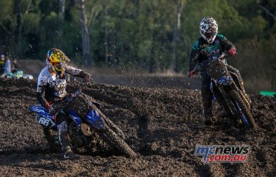 MX Nationals Rnd Gladstone moto mx evans holds on