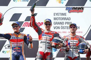 MotoGP Rnd Austria Podium GP GP AN