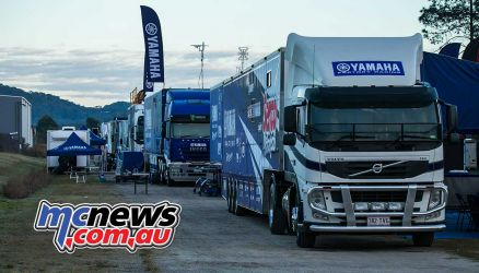 mx nationals coolum rnd saturday morning yamaha trucks ImageScottya