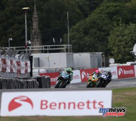 BSB Showdown Oulton Park Alastair Seeley leads the close group ImageDyeomans