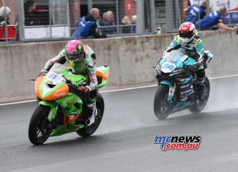 BSB Showdown Oulton Park Ben Currie leads Alastair Seeley ImageDyeomans