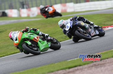 BSB Showdown Oulton Park Ben Currie leads Jack Kennedy ImageDyeomans
