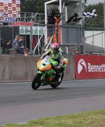 BSB Showdown Oulton Park Ben Currie takes the chequered flag race ImageDyeomans