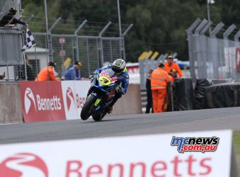 BSB Showdown Oulton Park Billy McConnell takes the chequered flag ImageDyeomans