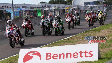 BSB Showdown Oulton Park Jake Dixon leads away race ImageDyeomans