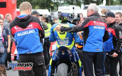 BSB Showdown Oulton Park Winner Billy McConnell with team ImageDyeomans