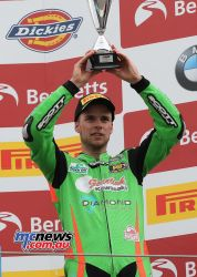 BSB Rnd Assen Ben Currie and his trophy ImageDyeomans