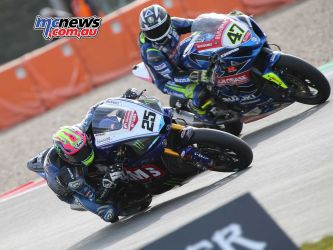 BSB Rnd Assen Josh Brookes being watched by Richard Cooper ImageDyeomans