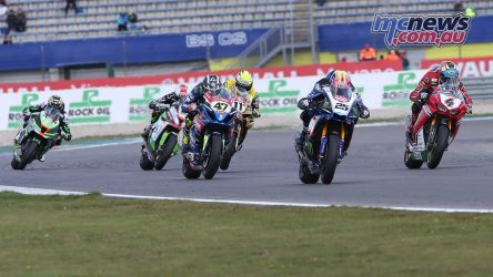 BSB Rnd Assen Josh Brookes scrapping it out ImageDyeomans