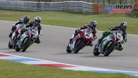 BSB Rnd Assen Leon Haslam leads from Jason OHalloran ImageDyeomans Cover