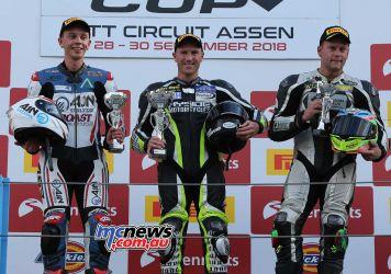 BSB Rnd Assen Levi Day Ducati Podium ImageDyeomans