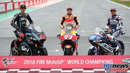 MotoGP Valencia season Champions Marquez Bagnaia Martin Moto Moto