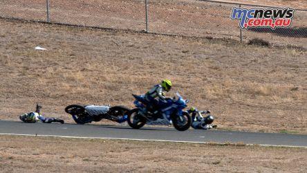 OJC Round RbMotoLens crash Glenn Nelson Jacob Roulstone Cros Francis