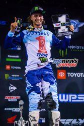 AMA Supercross FInal Dylan Ferrandis Podium JK SX Vegas
