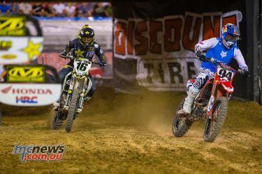 AMA Supercross FInal Roczen Osborne Multiple JK SX Vegas