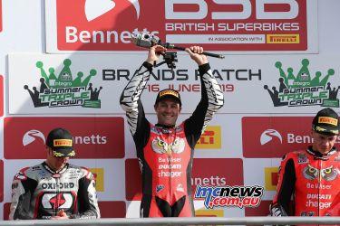 BSB RNd BrandsHatch SBK Race Podium Brookes Bridewell Redding