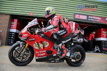 BSB Round Snetterton Josh Brookes Ducati VR