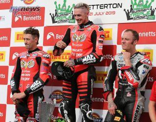 BSB Round Snetterton Race Podium Redding Brookes Bridewell