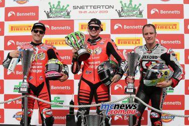 BSB Round Snetterton Race SBK Podium Redding Brookes Bridewell