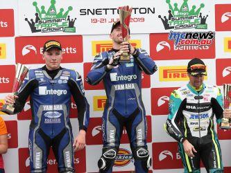BSB Round Snetterton Supersport Podium Kennedy Jones Seeley